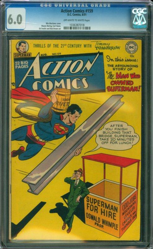 Action Comic #159 CGC Graded 6.0
