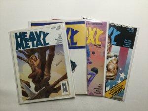 Heavy Metal Magazine 1983 4 Issue Lot Near Mint Nm HM Communications
