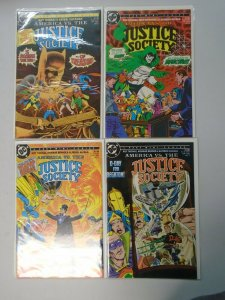 America vs the Justice Society set #1-4 8.0 VF (1985)