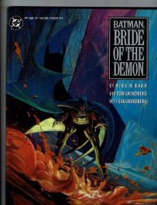 Batman Bride Of The Demon HARDCOVER DC Comic Book 1st Print Graphic Novel S73