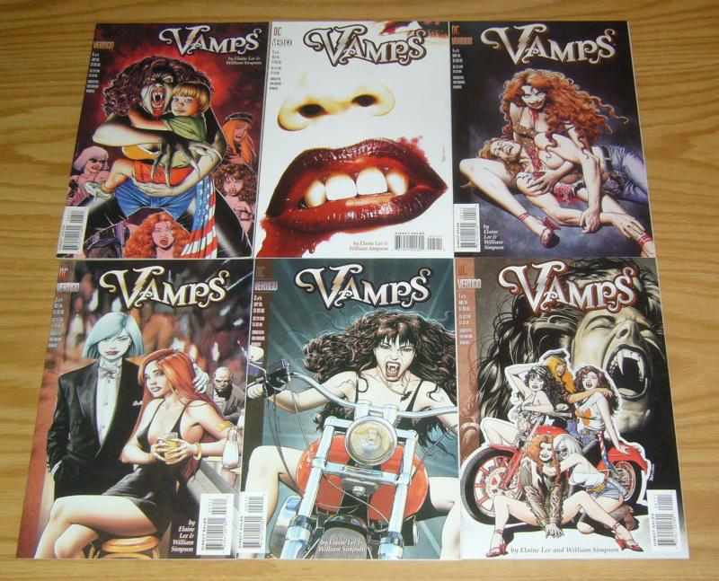 Vamps #1-6 VF/NM complete series - bad girl vampires - brian bolland 2 3 4 5 set