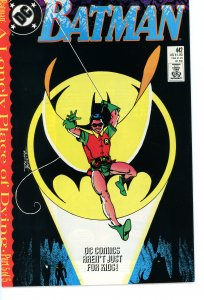 Batman 442  9.0 (our highest grade)  A Lonely Place of Dying!