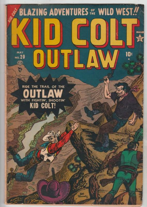 Kid Colt Outlaw #20 (May-52) VG/FN Mid-Grade Kid Colt