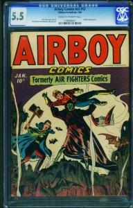 Airboy Vol 2 #12 CGC 5.5 1946-Hillman-Horror-Bondage 1198686001