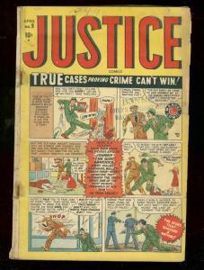 JUSTICE #9 1949-MARVEL COMICS-CRIME  MACHINE-GUN MAGGIE G-