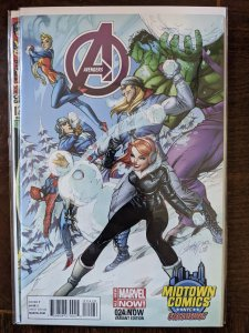 AVENGERS #24. J. SCOTT CAMPBELL EXCLUSIVE COVER. RARE!