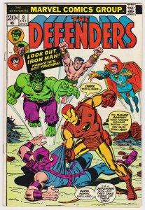 Defenders #9 | Hulk | Iron Man | Dr Strange | Silver Surfer (Marvel, 1973)