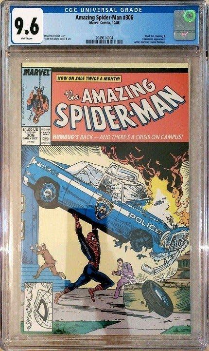 Amazing Spider-Man #306, Todd McFarlane Homage Cover CGC 9.6