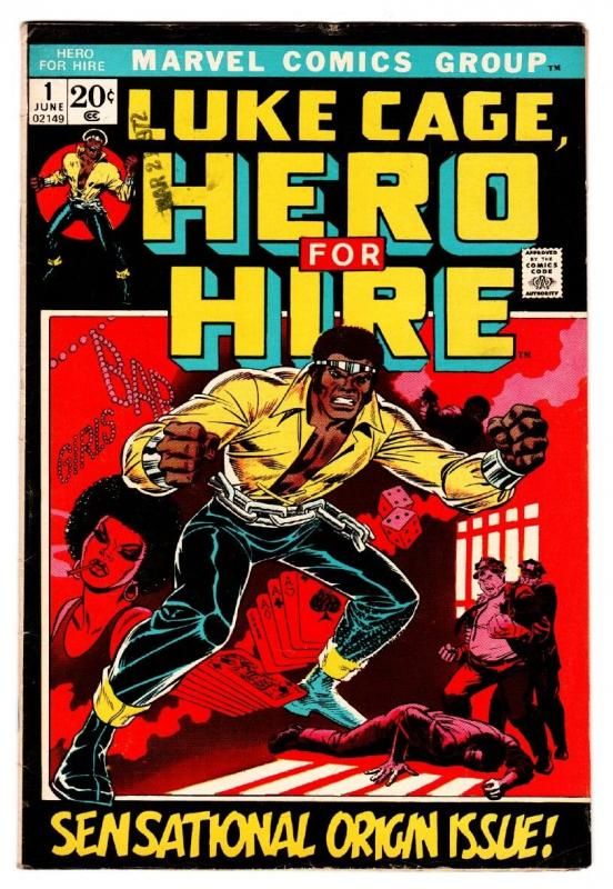 Hero For Hire #1 comic book First Luke Cage Marvel Key Issue 1972