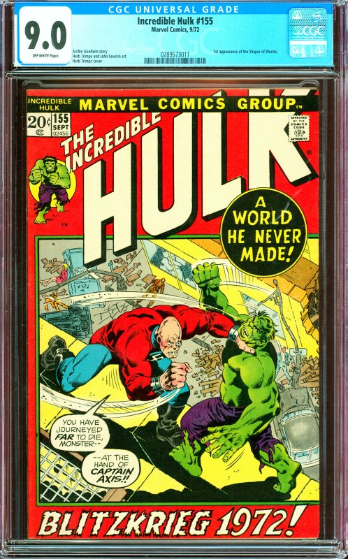 Incredible Hulk #155 CGC Graded 9.0