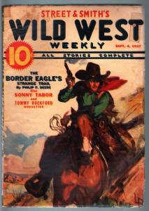 WILD WEST WEEKLY-9/14/1937-PULP-BORDER EAGLES-SONNY TABOR G