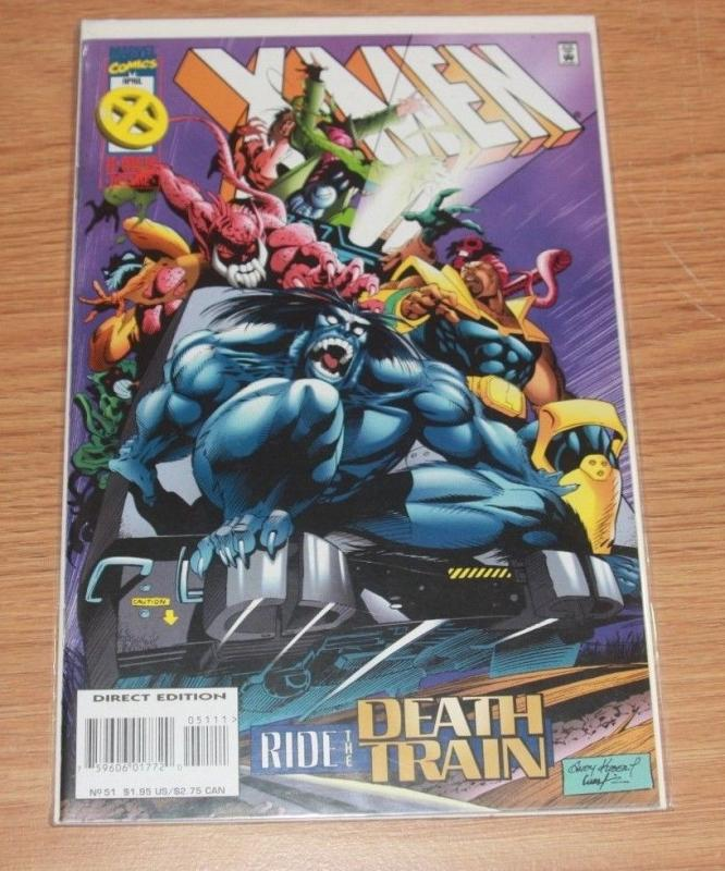 X-Men comic  # 51 (Apr 1996, Marvel) mr sinister bishop gambit beast