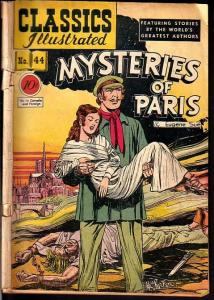 Classics Illustrated #44 HRN 44- Edition 1A- Mysteries of Paris G+