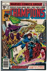 CHAMPIONS 14 FN- July 1977 Hercules, Black Widow, Angel