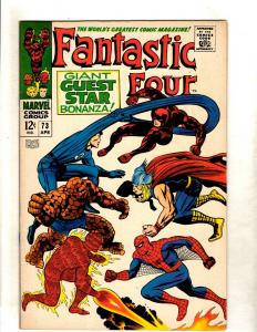 Fantastic Four # 73 NM- Marvel Comic Book Dr. Doom Human Torch Thing FM3