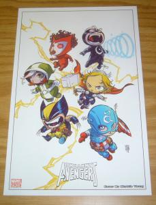 Uncanny Avengers print by Skottie Young - marvel - wolverine - captain america