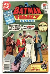 Batman Family #11 Batgirl marries Robin! DC 1977 comic
