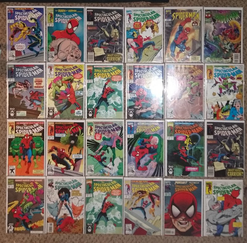 SPECTACULAR SPIDER-MAN COMIC BOOK LOT OF 25 BOOKS FOR SALE