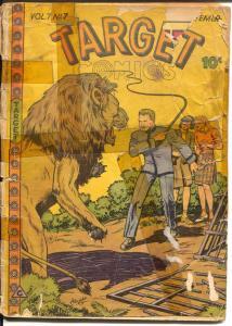 Target Vol. 7 #7 1946-Targeteers-Chameleon-Cadet-Lion attack-P/FR