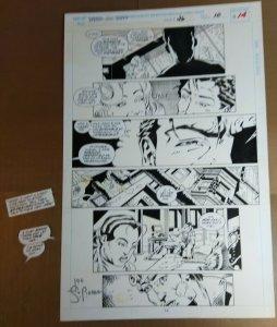 Original Art: Joe St. Pierre - Spider-Man 2099 #26 pg 14 Palmiotti inks