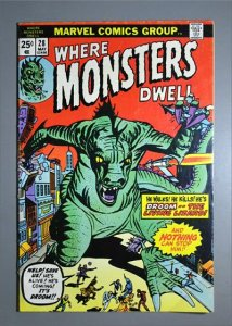 Where Monsters Dwell (1970 Series)  #28 VG  Actual Photo
