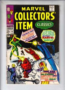 Marvel Collectors' Item #14 (Apr-68) VG/FN Mid-Grade Fantastic Four, Mr. Fant...
