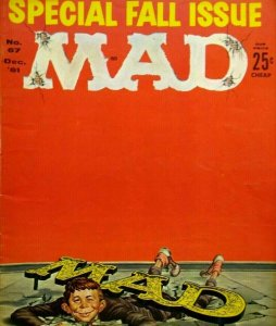 MAD Magazine Dec 1961 No 67 Special Fall Issue Army Rocket Belt Day With JFK