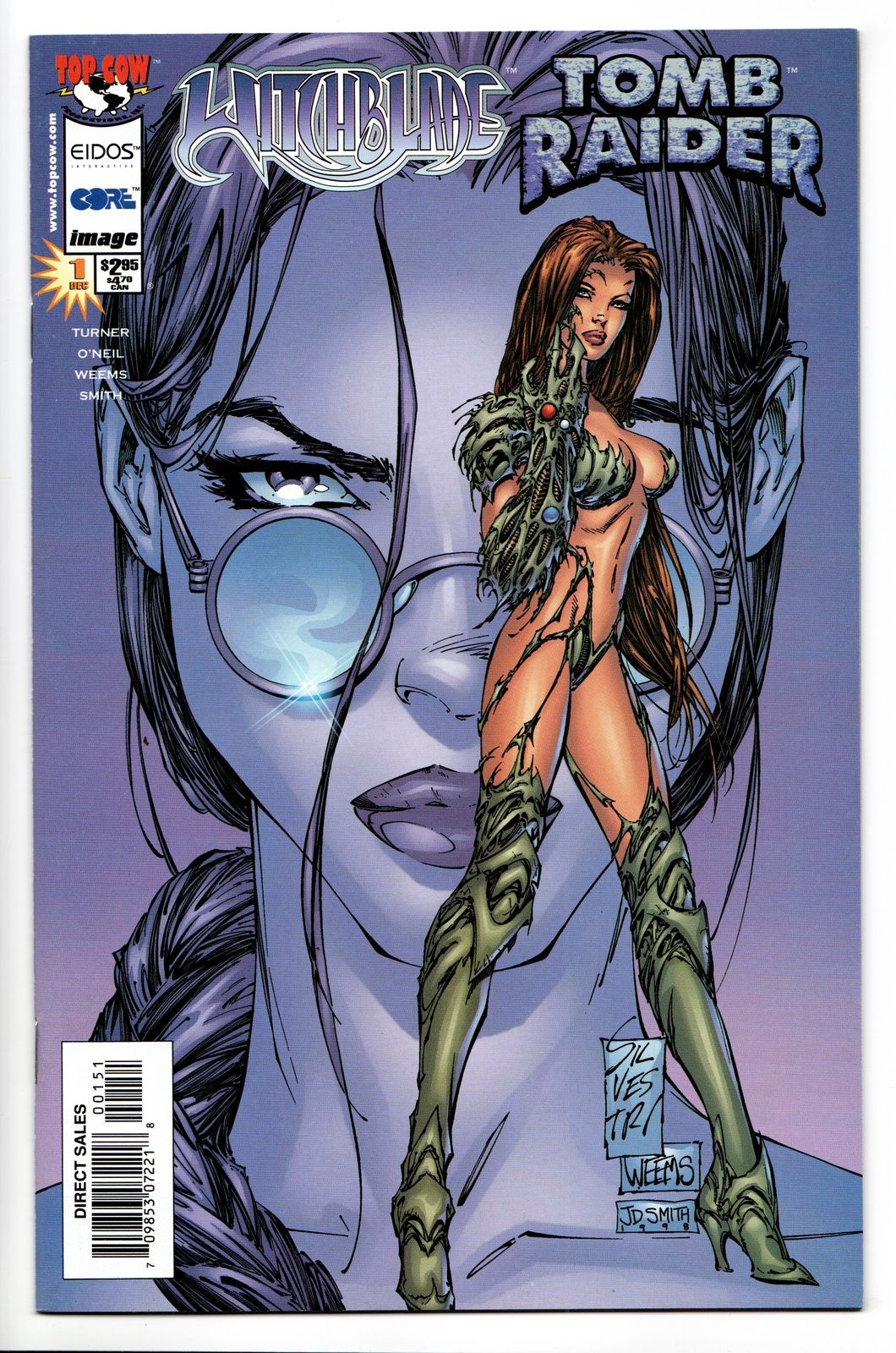 Witchblade Tomb Raider #1B VF-NM Image Comics Dec 1998