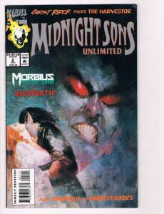 Midnight Sons Unlimited # 2 Marvel Comic Books Ghost Rider Johnny Blaze!!!!! S56