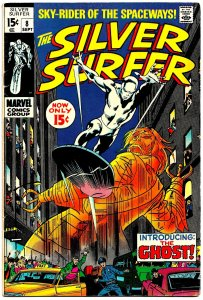 SILVER SURFER #8 (Sept1969) 8.0 VF  John Buscema! The GHOST! Excitement & Angst!