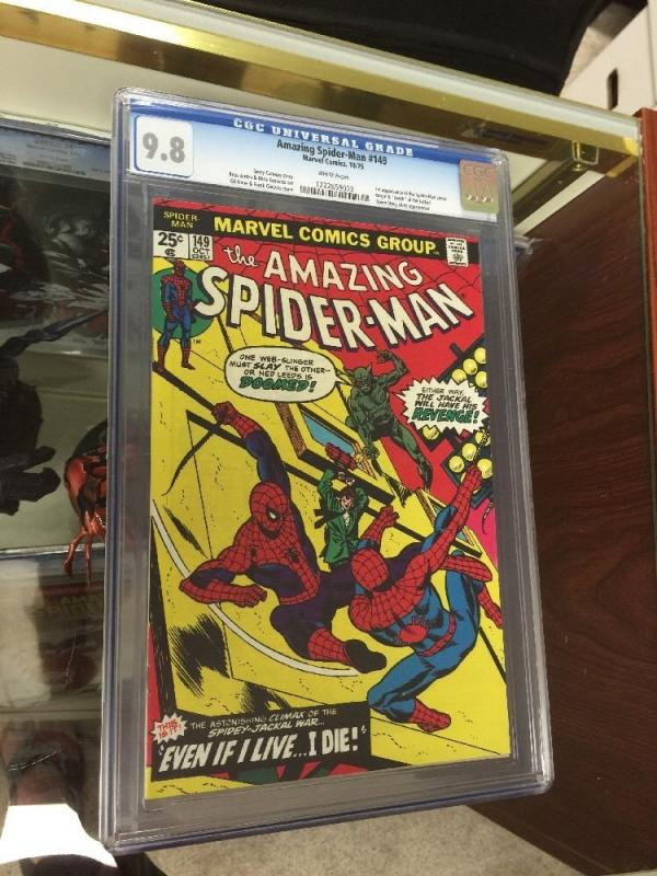 Amazing Spider-Man 149 Cgc 9.8 White Pages Perfect Centering Gem! Highest Grade