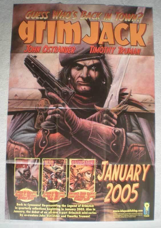 GRIM JACK Promo Poster, Tim Truman, 24x36, 2004, Unused, more Promos in store