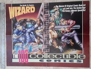 Wizard The 100 Most Collectible Comics 1992 Will Eisner Poster see note