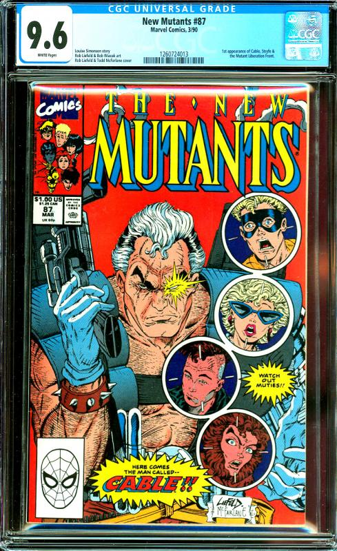 New Mutants #87 CGC Graded 9.6 1st Cable