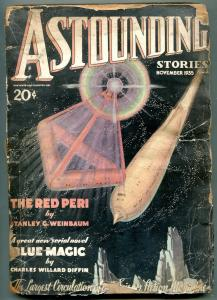 Astounding Stories Pulp November 1935- Red Peri- Blue Magic- reading copy