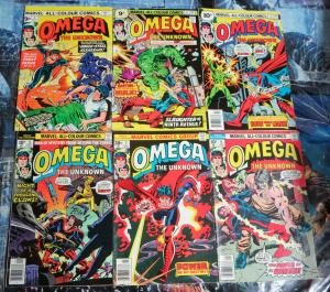 BRITISH MARVEL Omega the Unknown Collection! Issues 1-6 !G-VG! Gerber! Mooney!