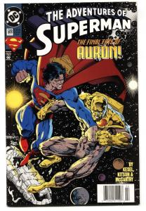 ADVENTURES OF SUPERMAN #509 comic book First appearance of MASSACRE