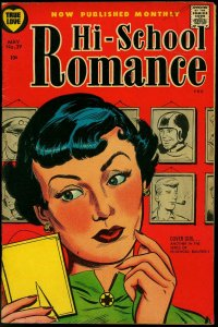 Hi-School Romance #39 1955- Harvey Comics- Cover Girl VG+