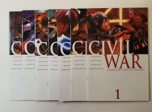 Civil War Seven Issue Set Marvel Comics 2006 Marvel Comics VF/NM Or Better