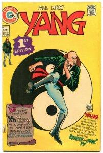 Yang #1 1973- Charlton Comics- Martial Arts superhero VF