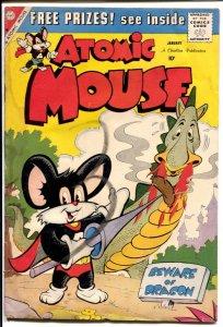 Atomic Mouse #34 1960-Charlton-Superhero funny animals-dragon-FR