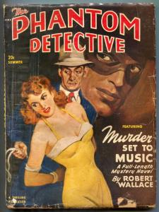 Phantom Detective Pulp Summer 1949- Murder Set to Music low grade