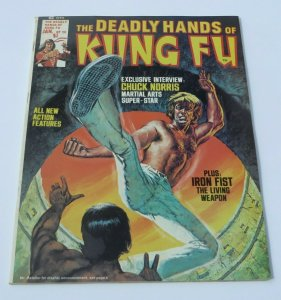 The Deadly Hands of Kung Fu #20 VF/VF+ 1975 Magazine Iron Fist Chuck Norris