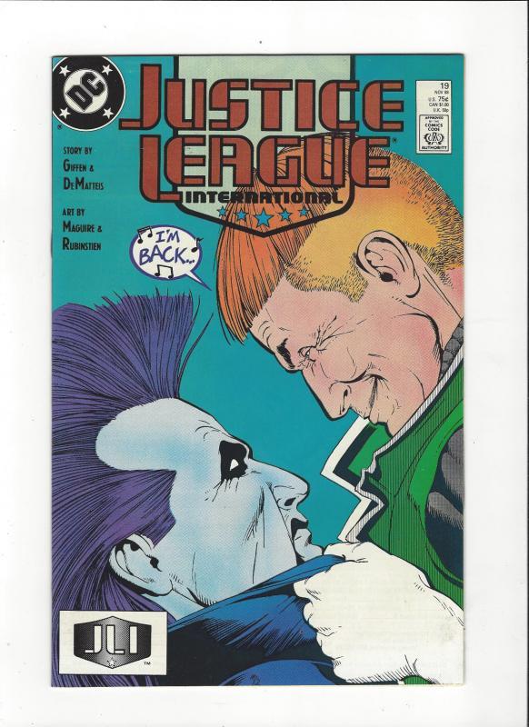 Justice League International #19 1987 DC Comics Copper Age  NM