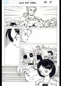 Ninja High School #82 Page 15 Original Comic Book Art -Ben Dunn