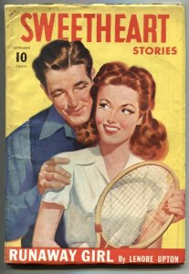 Sweetheart Stories Pulp September 1942- Runaway Girl- Tennis cover
