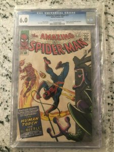 Amazing Spider-Man # 21 FN CGC 6.0 GRADED Marvel COMIC Book Human Torch TJ1