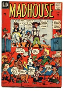 MADHOUSE #2-1957-AJAX-MAD COMIC IMMITATOR-SATIRE--PARODY--WEIRD HUMOR-RARE