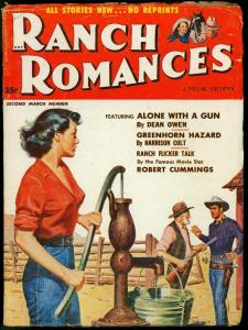 RANCH ROMANCES MARCH 1953 ROBERT CUMMINGS JAN STERLING VG