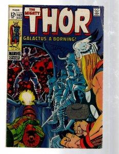 Mighty Thor # 162 FN Marvel Comic Book Loki Odin Asgard Sif Avengers Hulk RB8